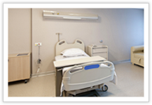 chambre patient ecran medical fixation