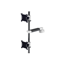 double support vertical pour ecrans plats ou panels pc fixation